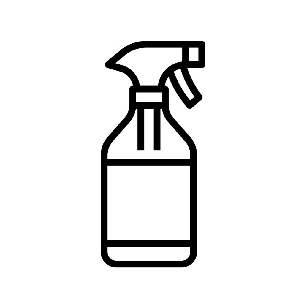 Icon of a spray bottle of disinfectant