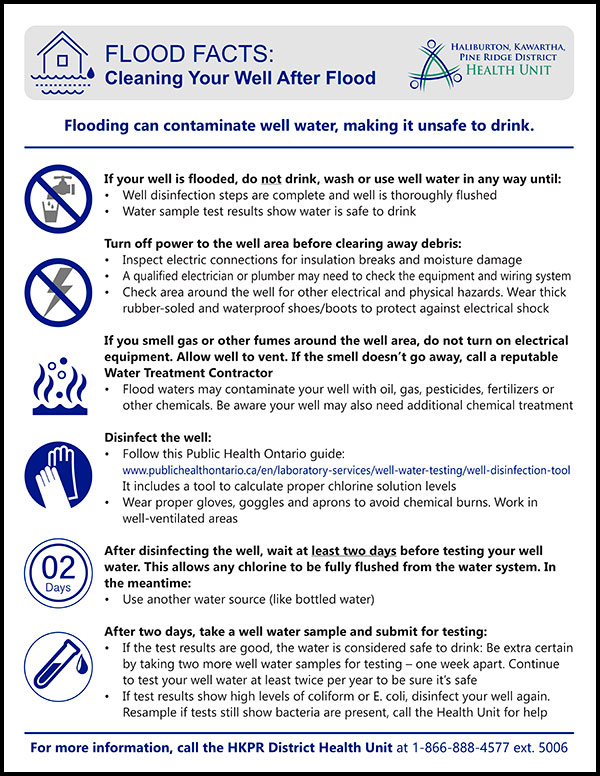 Image of poster for cleaning your well after a flood