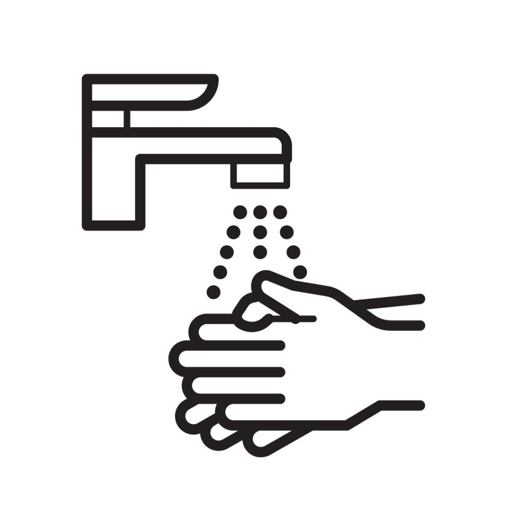 Icon image of hands washing under running water