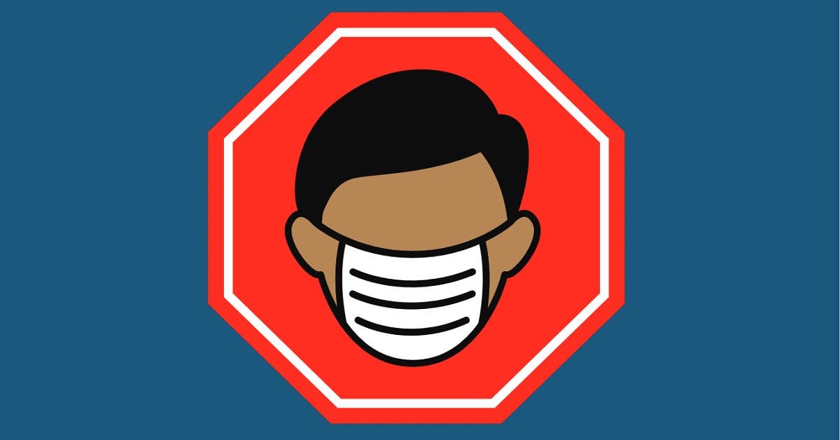 Sign/image showing need to wear non-medical masks or face covering