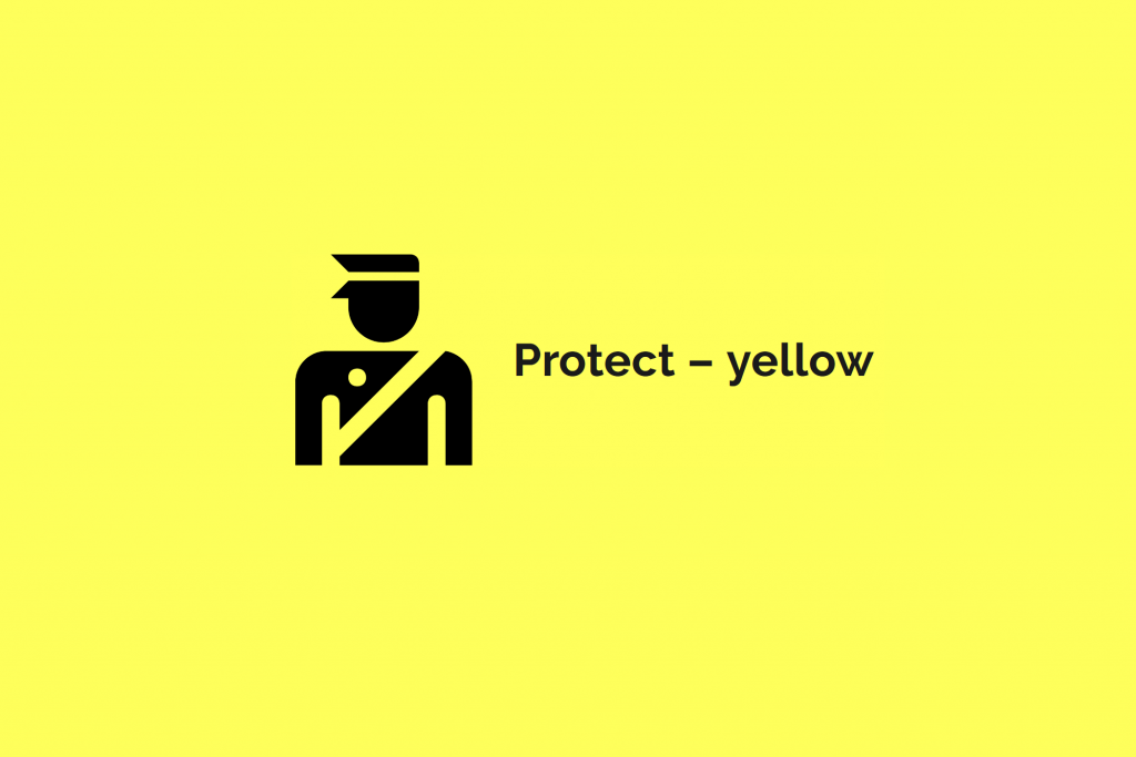 Image of Yellow Protect COVID colour category