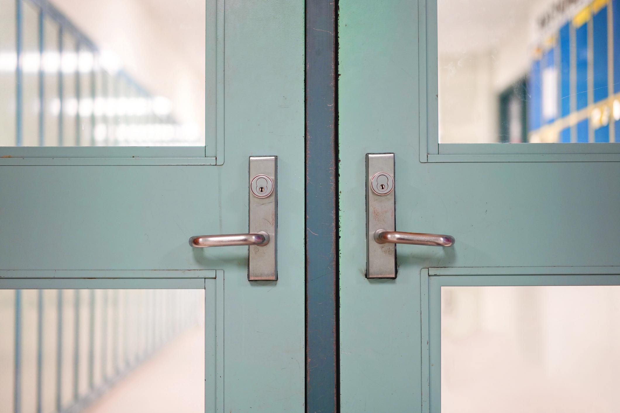 image of school doors